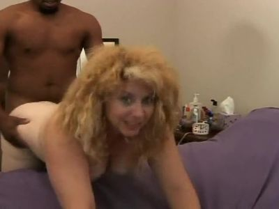 chubby mature fucked doggy interracial