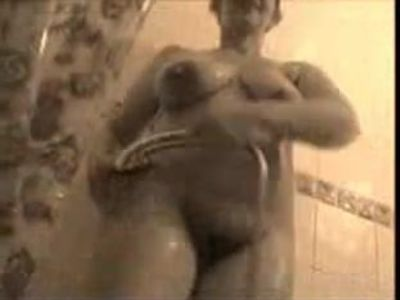 Big nipples mature in the shower