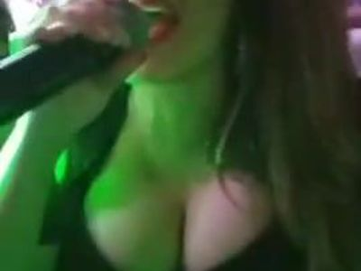 big boobs singer....
