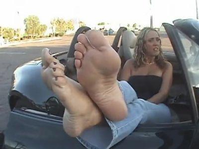 Mature Blonde Sheila',s feet.