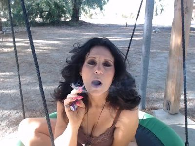 SEXY SMOKE outside interupted by Sissy needing his ass fucked