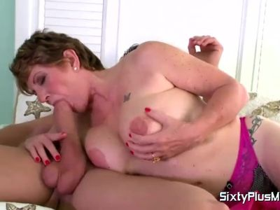 MATURE WIFE FUCKS STEPSON WHILE HUSBAND'S IN BED