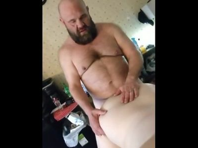 Daddy bear fucks his cub