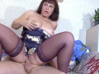 Nice plump sweet stepmom & guy