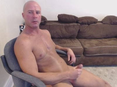 DAD MASTURBATES CUMS IN PUDDING & SWALLOWS MATURE DADDY BIG COCK DICK ALPHA
