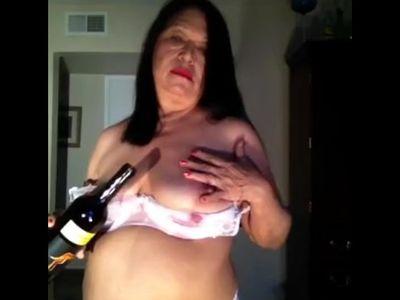 Ummmmm mature Latina woman dancing in my silver dress