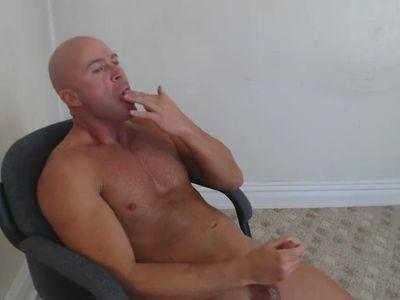 DAD MASTURBATES CUMS IN SHOT GLASS & SWALLOWS MATURE DADDY BIG COCK DICK