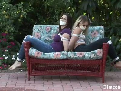 Bondage Girls in jean
