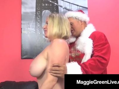 Horny Hottie Maggie Green Is Banged By Santa &amp, His BBC Elf!