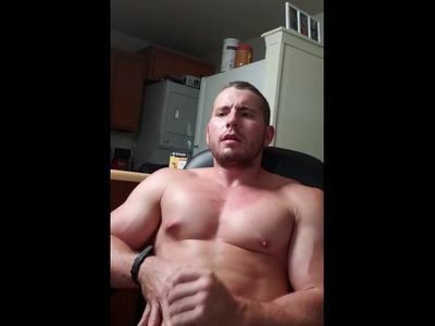 Stud is so horny he prematurely ejaculates a huge load