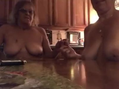 Topless with mom