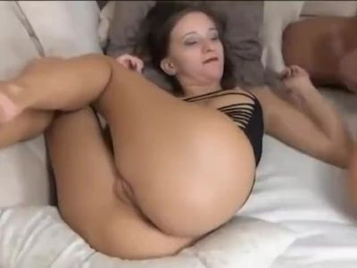 French blonde petite step sister creampie after anal sex
