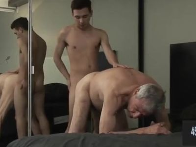 Hung 18 year old pounds the fuck out of Grandpa