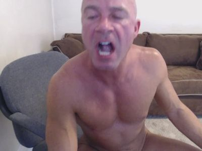 Mature Dad Masturbates Swallows Cum Play Dirty Talk Daddy Muscles Tanned