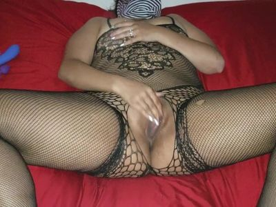 Mommy makes herself cum twice with her toy