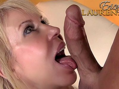 Sexy mature blonde Erica Lauren pleasing a big cock