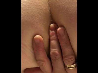Close up stroking and fingering my pussy and arsehole