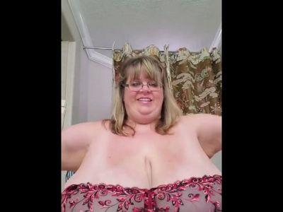 Grandma Trying on New Bra