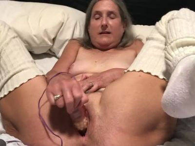 60 year old granny milf mature gilf big orgasm with pink rabbit