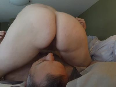 Reverse cowgirl, 69 creampie eating, she came on my face again