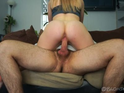 He Has to Hold His Premature Cumshot The Second She Sits On His Cock