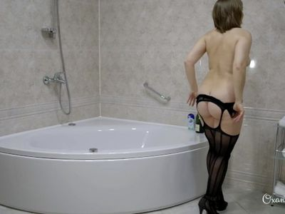 Butt plug and blowjob in shower - teaser