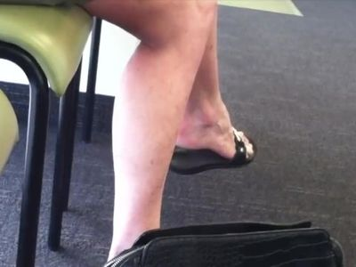 Candid Mature arches and black sandals [NOT MY WORK!]