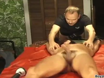 Mature Daddy Jerked and Tickled