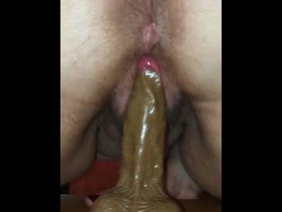 sat on a black Dildo pussy
