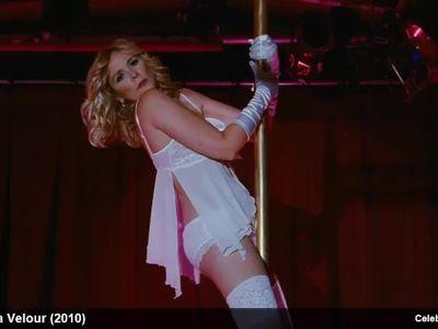 Celebrity Kim Cattrall Stripping Hot In Silk Lingerie