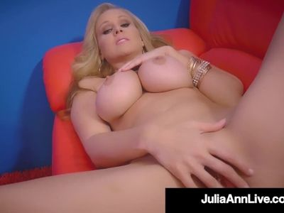 Pole Dancing Milf Julia Ann Finger Fucks Her Mature Muff!