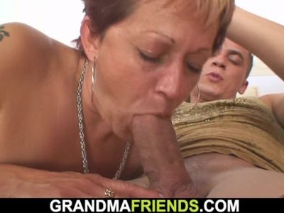 Hot interracial threesome with mature woman