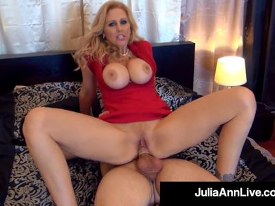 Elegant Milf Julia Ann Gets 2 Cocks In Her Mouth &amp, Pussy!