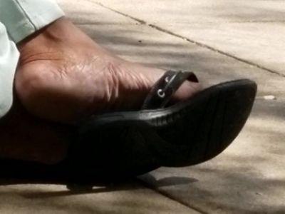 Candid mature ebony feet 2