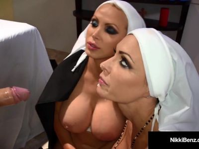 Penthouse Pet Nikki Benz &amp, Jessica Jaymes Nun Fucking? WTF!