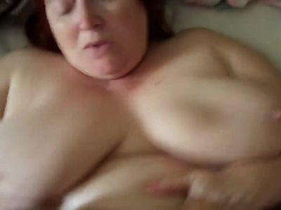 Big titted mature bbw pov