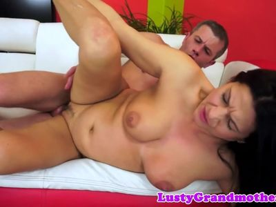 Mature beauty banged by fat cock
