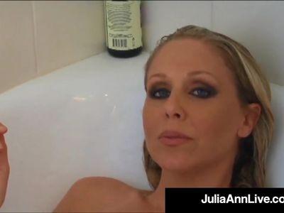 Busty Blonde Milf Julia Ann Smokes Her Cigs Soaking In Tub!